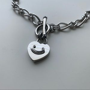 Juicy Couture Heart Charm Silver Necklace (NWOT)